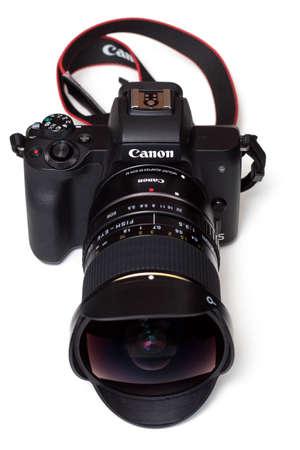 Camera and fisheye lens (8mm)