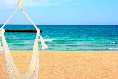 a beautiful landscape view of the Sea of Cortez and an inviting hammock