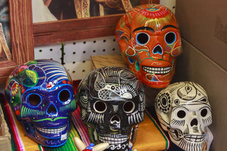 Colorful Mexican Calacas for Day of the Death celebration Stok Fotoğraf