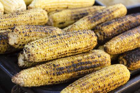 Grilled Corn on the Cob Stok Fotoğraf