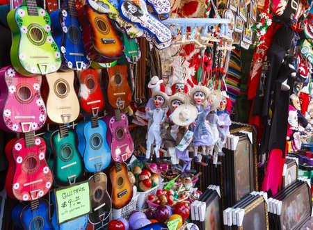 A Mexican Curious shop at Olvera Street, Los Angeles, CA.