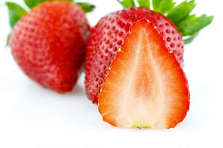 deliciously: A deliciously fresh strawberry Stock Photo