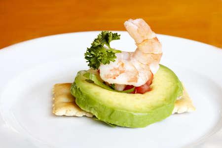 A delicious shrimp avocado appetizer, mexican style