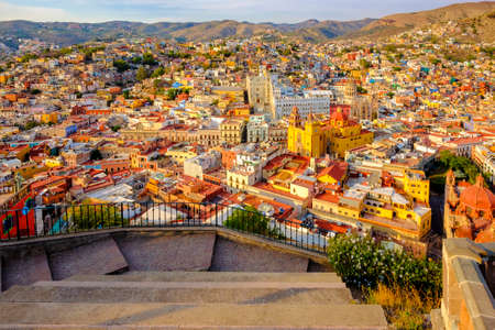 A beatiful overview of Guanajuato Mexico