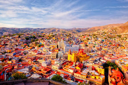 This colorful historical city in central Mexico is full of joy and heritage Archivio Fotografico