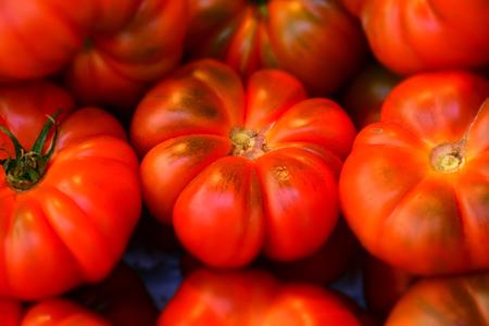 Macro detail of tomatoes