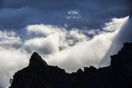 Clouds sea in La Palma, Canary Islands, Spain