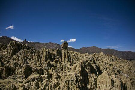 Moon Valley in La Paz, Cordillera Real, Andes, Bolivia