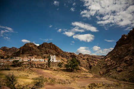 Dry country from Cordillera Real, Andes, Bolivia Stock Photo