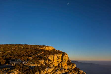 Winter sunset in Serra Del Montsec, Lleida, Spain