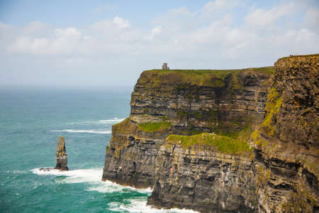 Spring landscape in Cliffs of Moher (Aillte An Mhothair), Ireland. Stock Photo