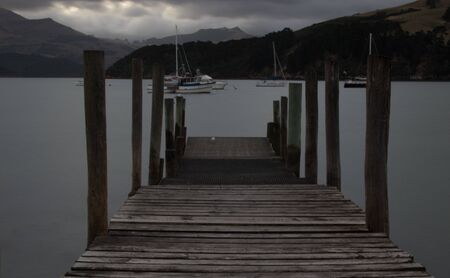 Feeling of solitude at this pier at sunset