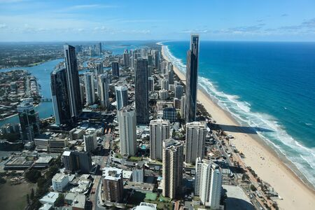 Blick von einem Skydeck auf die Stadt Gold Coast