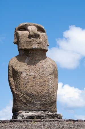 Moai in Ahu Tongariki (Easter island, Chile)