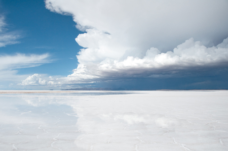 salar de uyuni: Salar de Uyuni, Salt flat in Bolivia Stock Photo