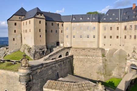 königstein fortress, Saxony (Germany) Stock Photo