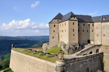 saxony: königstein fortress, Saxony (Germany) Stock Photo