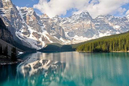 모레 인 호수, 록키 산맥, 캐나다 스톡 콘텐츠