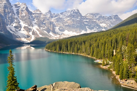 Moraine Lake, Rocky Mountains, Canada photo