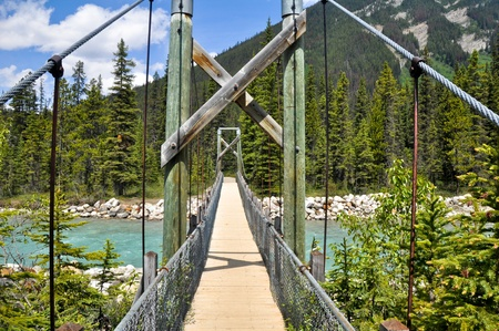 Bridge over Vermilion river at Kootenay National Park, Canada photo