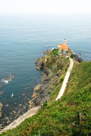 Lighthouse at Cudillero (Spain) photo