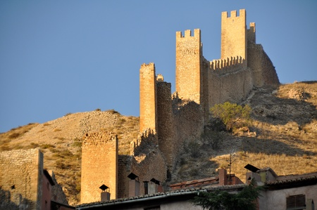 Wall of Albarracin, medieval town of Teruel, Spain photo