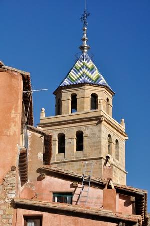 santa maria: Church of Santa Maria, Albarracin, Teruel (Spain) Stock Photo