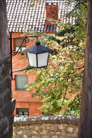Street of Albarracin, medieval town of Teruel, Spain photo