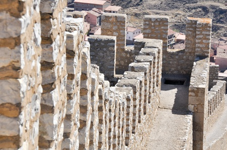 Wall of Albarracin, medieval town of Teruel, Spain Stock Photo - 11320629