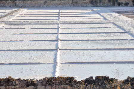 saltmine: Salt flat of Imon, Guadalajara (Spain) Editorial