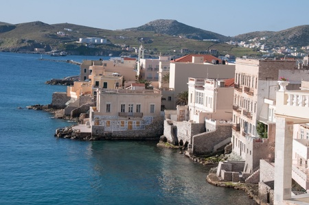 Ermoupolis at Syros island, Greece photo