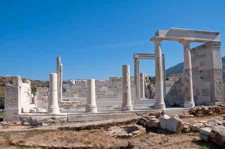 naxos: Temple of Demeter, Naxos (Greece) Stock Photo