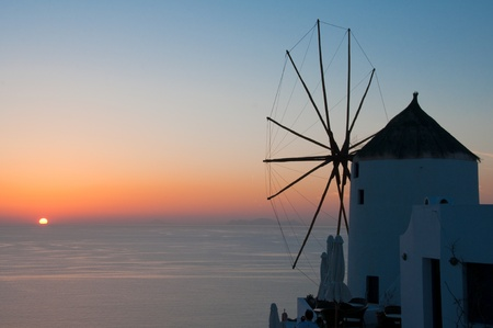 Sunset at Santorini, Greece Stock Photo - 11356076