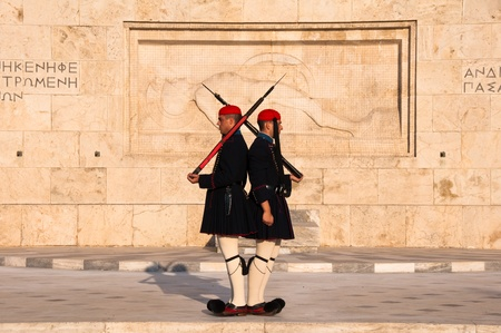 tsolias: Guards perform the Changing of the Guard
