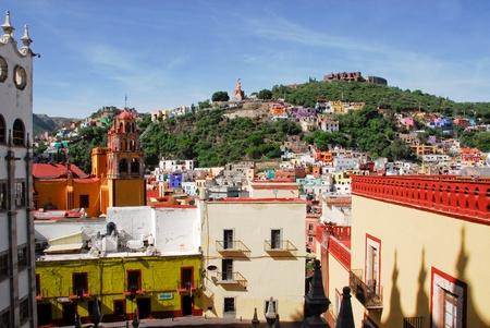 casa colonial: Guanajuato, pueblo pintoresco en M�xico Foto de archivo