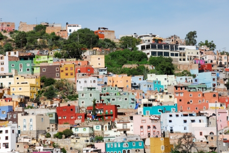 mexico city: Guanajuato, colorful town in Mexico