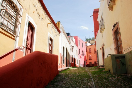 mexico city: Streets of Guanajuato, colorful town in Mexico