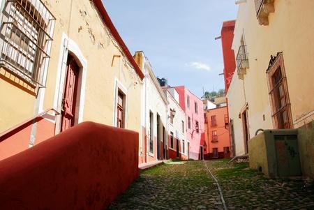 mexico city: Streets of Guanajuato, colorful town in Mexico