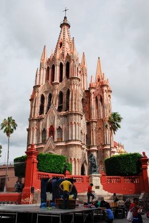 michael the archangel: Church of St. Michael the Archangel in San Miguel de Allende (Mexico)