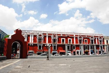 santo domingo: Puebla, near Santo Domingo church (Mexico)