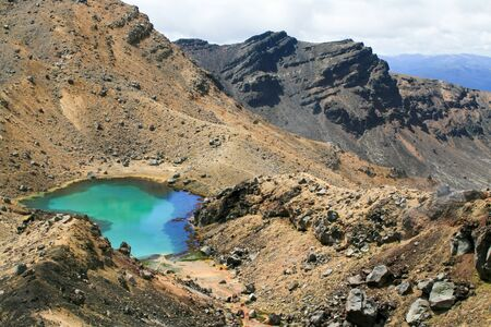 Emerald Lakes in the Tongariro Alpine Crossing photo