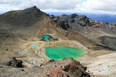 tongariro: Emerald Lakes in the Tongariro Alpine Crossing