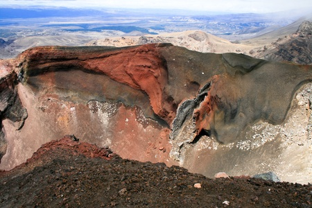 Red crater, Tongariro national park, New Zealand photo