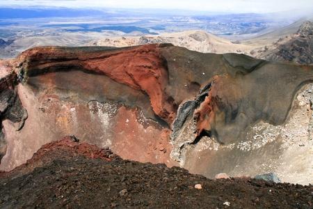 tongariro national park:  Red crater, Tongariro national park, New Zealand