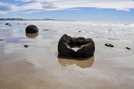 Moeraki Boulders, New Zealand photo