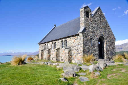 tekapo: The Church of the Good Shepherd, Tekapo lake
