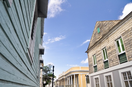 Colonial architecture in Ponce, Puerto Rico photo