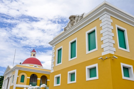 juan: Colorful architecture in Old San Juan, Puerto Rico