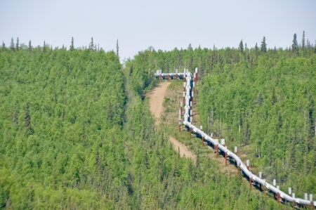 Trans-Alaska Oil Pipeline Stock Photo - 11680367