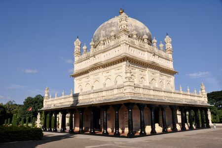 The tombs of Tipu Sultan &amp, Hyder Ali - Gumbaz, Srirangapatna, Stock Photo - 11801628
